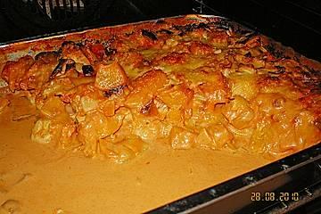 Putenfleisch mit Pfirsich