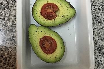 Gebackene Avocado mit Herz