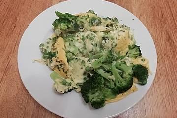Frittata aus dem Ofen mit Brokkoli und Pilzen