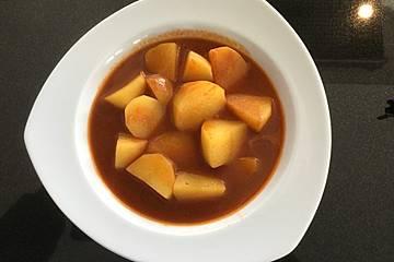 Kartoffeln in roter Soße auf algerische Art  - Batata chtitha