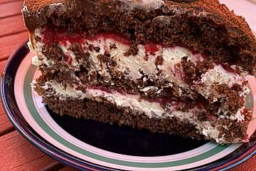 "Himbeer-Schokoladentorte ""Naked Cake"""