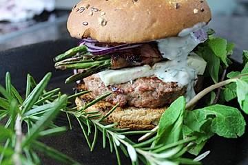Der Shepherd's Burger mit Lammhackfleisch