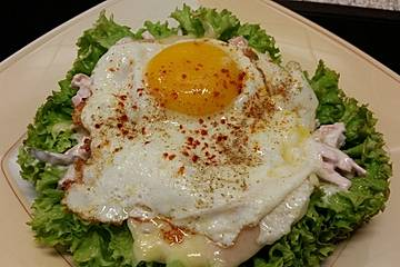 Spiegelei-Max auf Salat