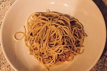 Knoblauch-Hirtenkäse-Spaghetti