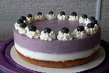 Urmelis Heidelbeer-Zitronen-Stracciatella-Torte