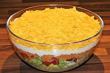 Vegetarischer Taco-Salat