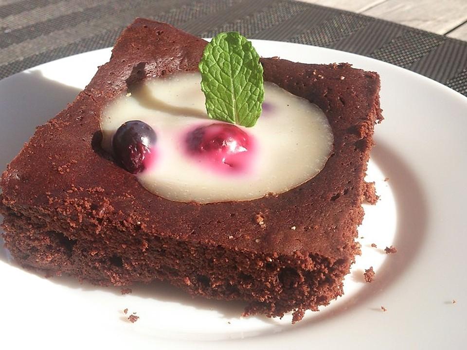 Schokokuchen Mit Früchten : schokokuchen mit vanille zitronen pudding und fr chten von michi94 kocht gerne chefkoch ~ Watch28wear.com Haus und Dekorationen
