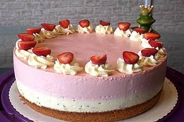 Urmelis Erdbeer-Stracciatella-Torte mit Schwips