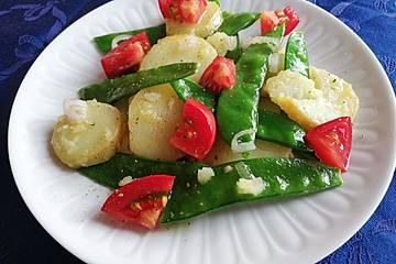 Kartoffel-Zuckerschoten-Salat