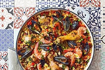 Paella mit  Safranöl