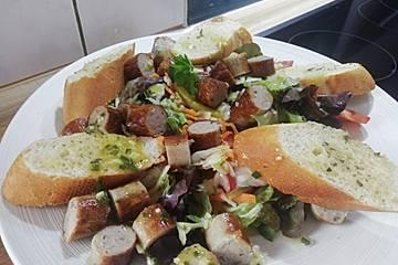 Fränkischer Bratwurstsalat