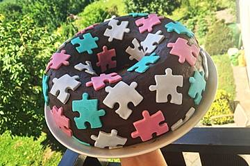 Puzzle-Kuchen mit Fondant