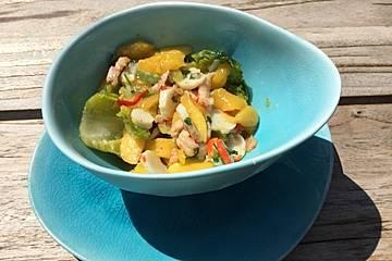 Flusskrebs-Mango-Salat