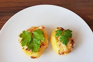 Buffalo-Kartoffeln mit Lachs-Käse-Füllung