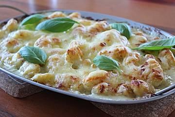 Überbackene Gnocchi mit Käse