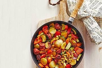 Chorizo - Gemüsepfanne aus dem Ofen