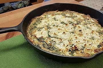 Rucola-Frittata mit Feta