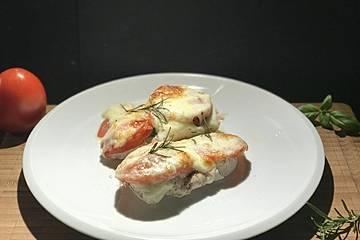 Hähnchenbrust mit Tomate-Mozzarella überbacken