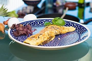 Omelett mit Dulse-Algen