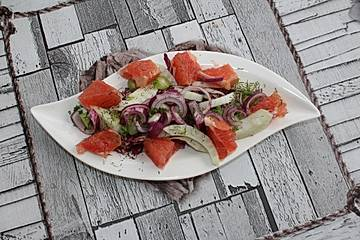 Radicchiosalat mit Fenchel und Grapefruits
