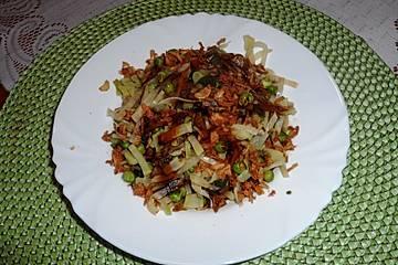 Brokkoli-Sellerie-Erbsen-Gemüsebeilage