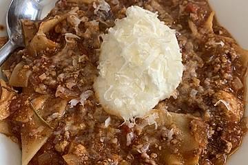 Lasagnesuppe mit Räuchertofu