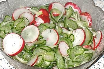 Gurken-Radieschen-Salat