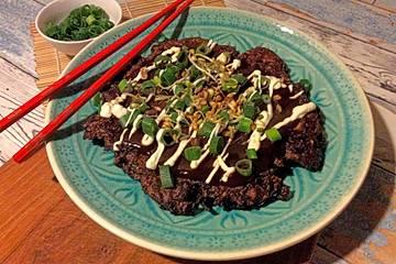 Vegane Jackfruit-Okonomiyaki