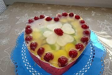 Bio Fruchtcreme Valentins-Herz-Torte à la Didi
