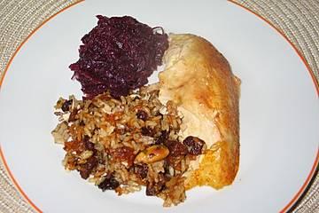 Amitsch - Hähnchen mit Obst-Reis-Füllung