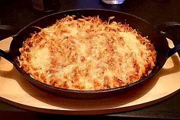 Schnelle vegetarische Kohlrabi-Lasagne