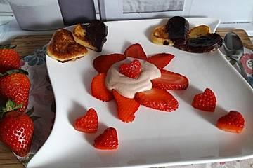 Erdbeeren mit Nougatcreme