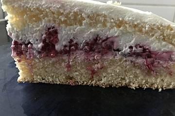 Quark-Joghurt-Kuchen mit Himbeeren ohne Geliermittel