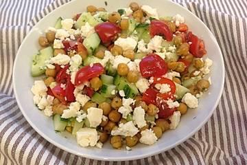 Kichererbsen-Feta-Salat