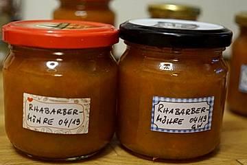 Rhabarber-Möhren-Marmelade mit Zitrone