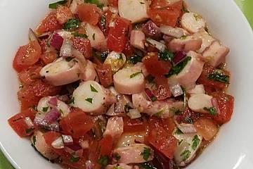 Tintenfischsalat auf kroatische Art