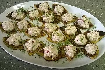 Kartoffelpuffer mit Forellentatar