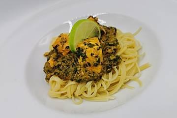 Lachs-Spinat-Sauce