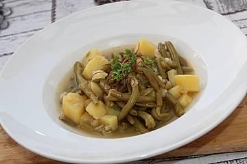 Kartoffel-Grüne-Bohnen-Suppe