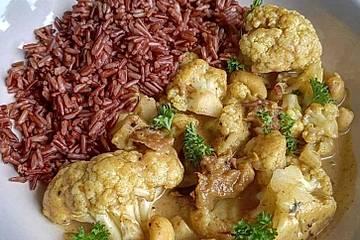 Low Carb Blumenkohl-Erdnuss-Curry