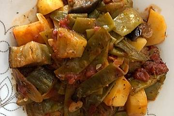 Griechisches Briami - Gemüse im Backofen