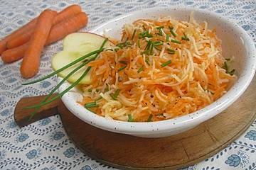 Kohlrabi-Karotten-Apfelsalat