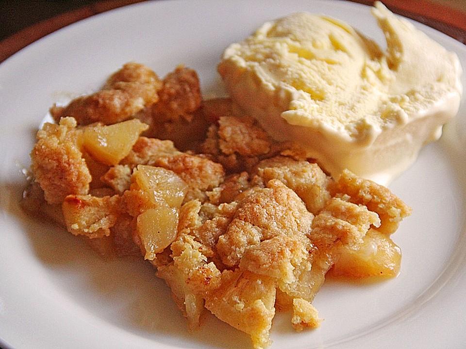 Apfel crumble rezept
