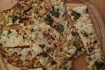 Low Carb Zucchini-Mozzarella-Brot