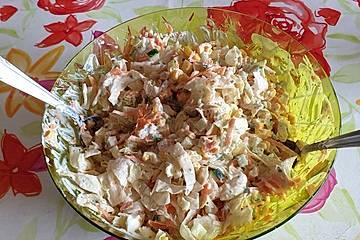Sweetys Schichtsalat - Übernachtsalat grün-gelb-rot