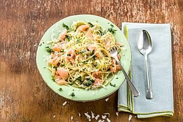 Schnelle Küche - Spaghetti mit Räucherlachs