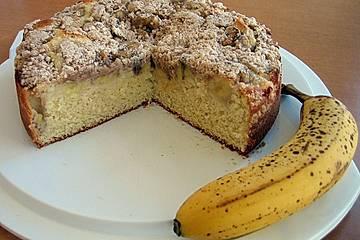 Bananen - Streusel - Kuchen (brasilianisch)