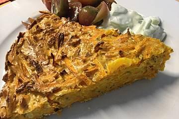 Kürbis-Tarte ohne Boden