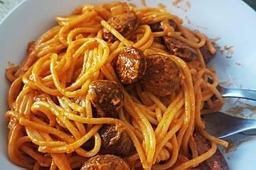 Spaghetti mit Chorizo-Sahne-Soße