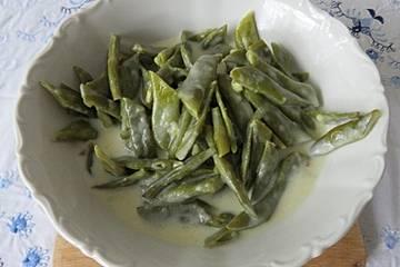 Grüne Bohnen in Knoblauchsauce nach Muttis Art